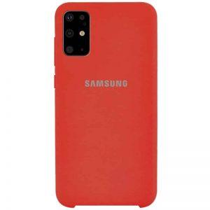 Оригинальный чехол Silicone Case с микрофиброй для Samsung Galaxy S20 Plus – Красный / Red