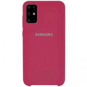 Оригинальный чехол Silicone Case с микрофиброй для Samsung Galaxy S20 Plus – Красный / Rose Red