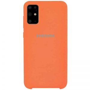 Оригинальный чехол Silicone Case с микрофиброй для Samsung Galaxy S20 Plus – Оранжевый / Orange