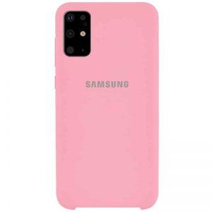 Оригинальный чехол Silicone Case с микрофиброй для Samsung Galaxy S20 Plus – Розовый / Pink