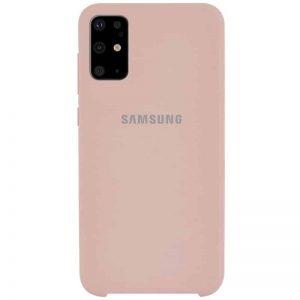 Оригинальный чехол Silicone Case с микрофиброй для Samsung Galaxy S20 Plus – Розовый / Pink Sand