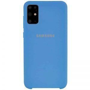 Оригинальный чехол Silicone Case с микрофиброй для Samsung Galaxy S20 Plus – Синий / Blue