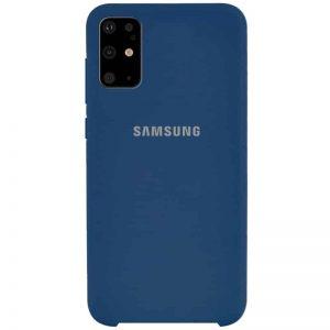 Оригинальный чехол Silicone Case с микрофиброй для Samsung Galaxy S20 Plus – Синий / Navy Blue