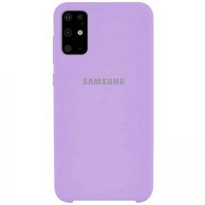 Оригинальный чехол Silicone Case с микрофиброй для Samsung Galaxy S20 Plus – Сиреневый / Dasheen
