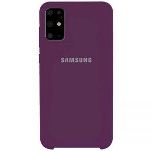 Оригинальный чехол Silicone Case с микрофиброй для Samsung Galaxy S20 Plus – Фиолетовый / Grape