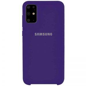 Оригинальный чехол Silicone Case с микрофиброй для Samsung Galaxy S20 Plus – Фиолетовый / Purple