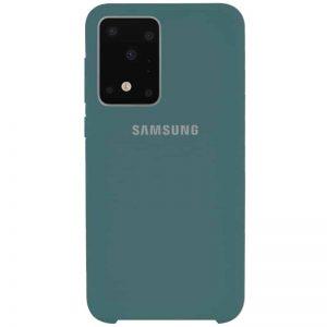 Оригинальный чехол Silicone Case с микрофиброй для Samsung Galaxy S20 Ultra – Зеленый / Pine green