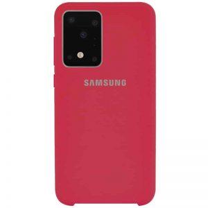 Оригинальный чехол Silicone Case с микрофиброй для Samsung Galaxy S20 Ultra – Красный / Rose Red