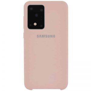 Оригинальный чехол Silicone Case с микрофиброй для Samsung Galaxy S20 Ultra – Розовый / Pink Sand