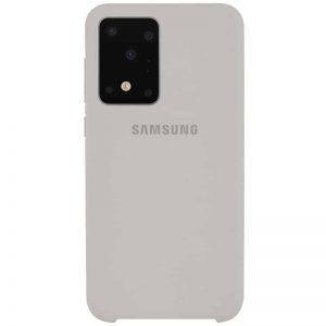 Оригинальный чехол Silicone Case с микрофиброй для Samsung Galaxy S20 Ultra – Серый / Stone