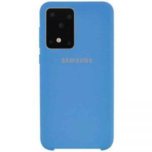 Silicone Case с микрофиброй для Samsung Galaxy S20 Ultra – Синий / Blue