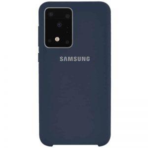 Оригинальный чехол Silicone Case с микрофиброй для Samsung Galaxy S20 Ultra – Синий / Midnight Blue