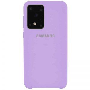 Оригинальный чехол Silicone Case с микрофиброй для Samsung Galaxy S20 Ultra – Сиреневый / Dasheen