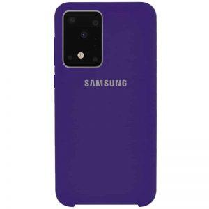 Оригинальный чехол Silicone Case с микрофиброй для Samsung Galaxy S20 Ultra – Фиолетовый / Purple