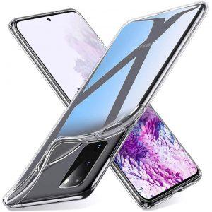 Прозрачный силиконовый TPU чехол для Samsung Galaxy S20