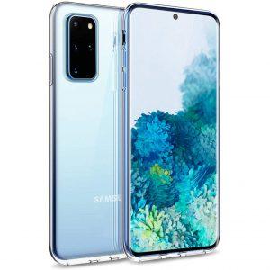 Прозрачный силиконовый TPU чехол для Samsung Galaxy S20 Plus
