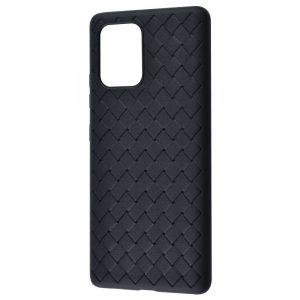 Силиконовый TPU чехол SKYQI плетеный под кожу для Samsung Galaxy S10 lite (G770F) – Black