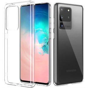 Прозрачный силиконовый TPU чехол для Samsung Galaxy S20 Ultra