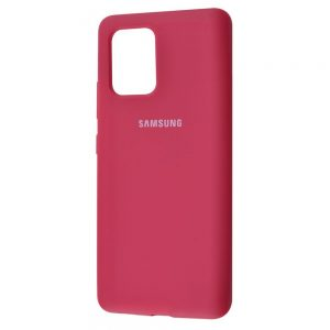 Оригинальный чехол Silicone Cover 360 с микрофиброй для Samsung Galaxy S10 lite (G770F) – Rose red