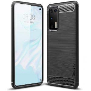 Силиконовый чехол Ipaky Slim Series для Huawei P40 – Черный