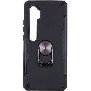 Ударопрочный чехол SG Ring Color под магнитный держатель с кольцом для Xiaomi Mi Note 10 / 10 Pro — Черный