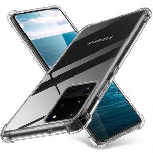 Чехол TPU GETMAN Ease с усиленными углами для Samsung Galaxy S20 Ultra – Clear