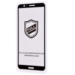 Защитное стекло 3D (5D) Perfect Glass Full Glue на весь экран для Huawei P Smart / Enjoy 7S — Black