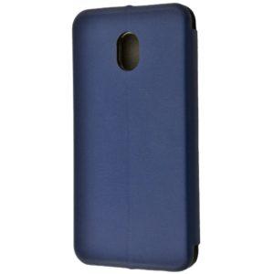 Кожаный чехол-книжка 360 с визитницей для Meizu M6s – Dark blue