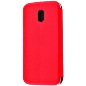 Кожаный чехол-книжка 360 с визитницей для Meizu M6s – Red