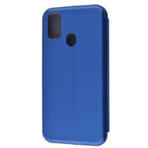 Кожаный чехол-книжка 360 с визитницей для Samsung Galaxy M30s / M21 – Blue