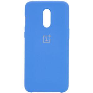 Оригинальный чехол Silicone Case с микрофиброй для OnePlus 7 – Синий / Blue