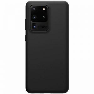 Матовый силиконовый TPU чехол для Samsung Galaxy S20 Ultra – Черный
