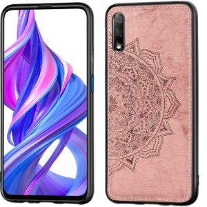 TPU+Textile чехол Mandala с 3D тиснением для Huawei P Smart Pro / Honor 9X (China) – Розовый