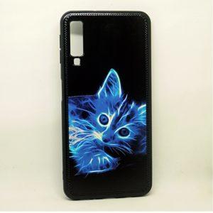 Чехол TPU Night Case для Samsung Galaxy A7 2018 A750 – Котик