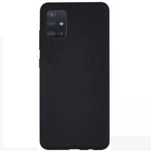 Матовый силиконовый TPU чехол для Samsung Galaxy A71 – Black