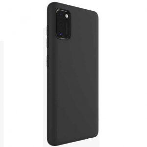 Матовый силиконовый TPU чехол на Samsung Galaxy A41 – Черный