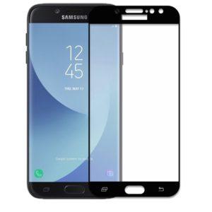 Защитное стекло 2.5D (3D) Full Cover на весь экран для Samsung Galaxy J2 / J2 Pro 2018 (J250) — Black
