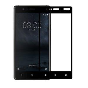 Защитное стекло 3D (5D) Full Glue Armor Glass на весь экран для Nokia 3 – Black