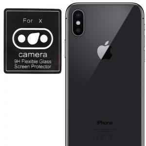 Гибкое защитное стекло 0.18mm на камеру для Iphone X / XS / XS Max – Black
