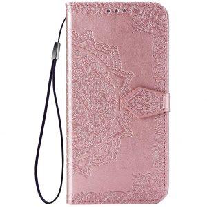 Кожаный чехол-книжка Art Case с визитницей для Xiaomi Redmi Note 9s / Note 9 Pro / Note 9 Pro Max – Розовый