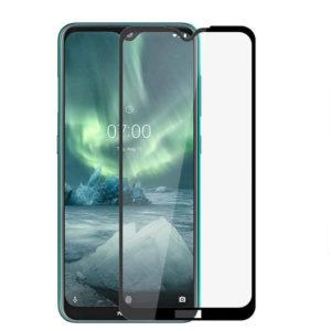 Защитное стекло 2.5D (3D) Full Cover на весь экран для Nokia 2.3 — Black