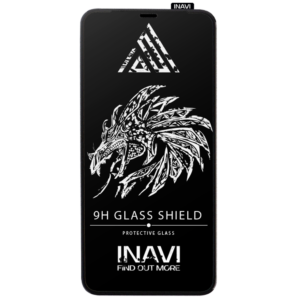 Защитное стекло 3D (5D) Inavi Premium на весь экран для Iphone X / XS / 11 Pro — Black