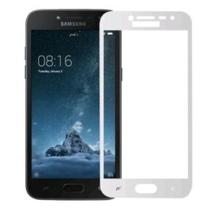 Защитное стекло 2.5D (3D) Full Cover на весь экран для Samsung Galaxy J2 / J2 Pro 2018 (J250) — White