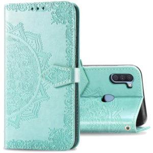 Кожаный чехол-книжка Art Case с визитницей для Samsung Galaxy A11 / M11 – Бирюзовый