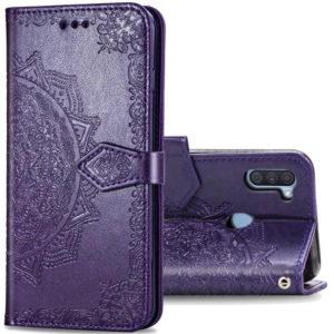 Кожаный чехол-книжка Art Case с визитницей для Samsung Galaxy A11 / M11 – Фиолетовый