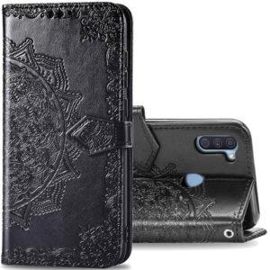 Кожаный чехол-книжка Art Case с визитницей для Samsung Galaxy A11 / M11 – Черный