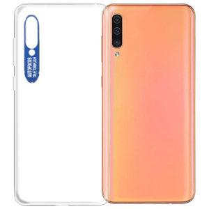 Прозрачный силиконовый TPU чехол Epic clear flash для Samsung Galaxy A50 / A30s 2019 – Синий