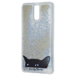 TPU+PC чехол Lovely Stream с переливающимися блестками для Meizu M6 Note – Black cat
