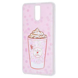 TPU+PC чехол Lovely Stream с переливающимися блестками для Meizu M6 Note – Ice cream coffee pink
