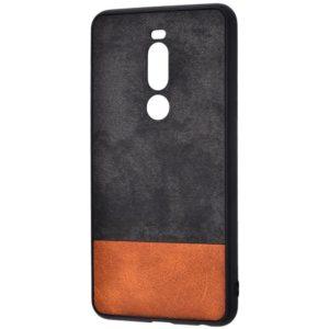 Чехол TPU+PC New Textile Case для Meizu X8 – Black / brown